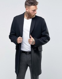 Hart Hollywood By Nick Hart Db Smart Overcoat With Shawl Collar afbeelding