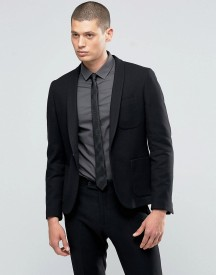 Hart Hollywood By Nick Hart Slim Blazer In Waffle With Shawl Collar afbeelding