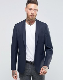 Hart Hollywood By Nick Hart Slim Unlined Blazer With Shawl Collar afbeelding