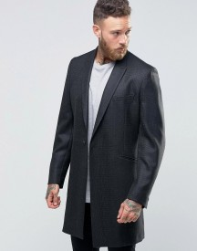Hart Hollywood By Nick Hart Smart Overcoat In Flannel afbeelding