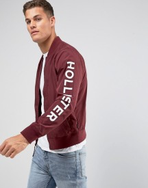 Hollister Basic Bomber In Burgundy afbeelding