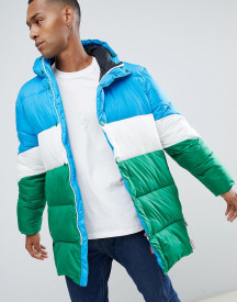 Hunter Original Colour Block Puffer Coat afbeelding