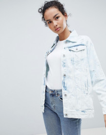 Influence Distressed Acid Wash Denim Jacket afbeelding