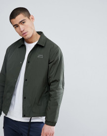 Jack Wills Chequers Coach Jacket In Olive afbeelding