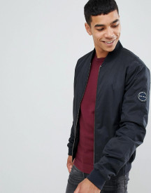 Jack Wills Rame Padded Bomber Jacket In Black afbeelding