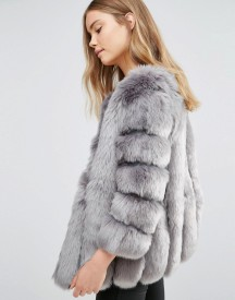 Jayley Luxurious Stripe Faux Fur Jacket afbeelding
