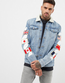 Kings Will Dream Denim Jacket With Badges afbeelding