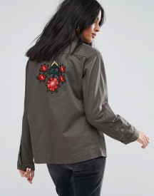 Kubban Lightweight Embroidered Shacket afbeelding