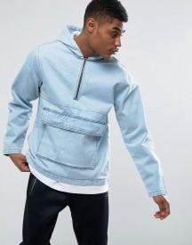 Kubban Pullover Denim Jacket With Front Pocket afbeelding