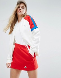 Le Coq Sportif Sweat Bomber Jacket With Colour Block Panels afbeelding