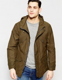 Lee Hooded Parka Waxed Cotton In Green afbeelding