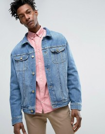Lee Oversized Rider Denim Jacket Light Shade Wash afbeelding