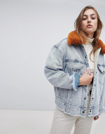 Levi's Faux Fur Collar Jacket afbeelding