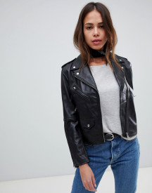 Levi's Relaxed Leather Moto Jacket afbeelding