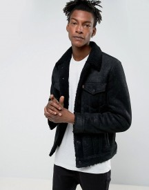 Levis Shearling Trucker Black Leather afbeelding