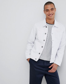 Lindbergh Denim Jacket In White afbeelding