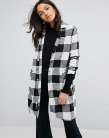 Lost Ink Check Duster Coat afbeelding