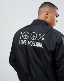Love Moschino Back Embroidery Bomber Jacket afbeelding