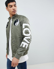 Love Moschino Bomber With Peace Logo afbeelding