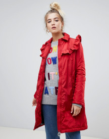 Love Moschino Frill Quilted Jacket With Circle Branded Zip Puller afbeelding