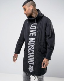 Love Moschino Padded Coat With Reversible Love Moschino Front Panel afbeelding