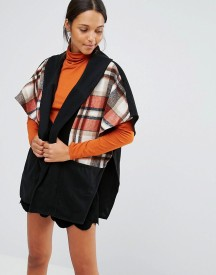 Love & Other Things Check Pattern Short Sleeve Coat afbeelding