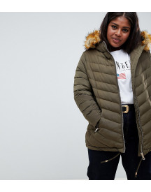 Lovedrobe Quilted Jacket With Faux Fur Trim afbeelding