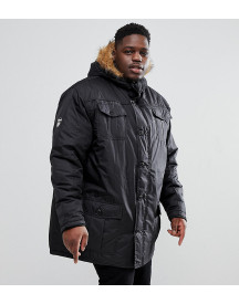 Loyalty And Faith Plus Parka Jacket With Faux Fur Trim Hood afbeelding