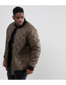 Loyalty And Faith Plus Quilted Zip Thru Bomber Jacket afbeelding