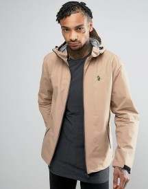 Luke 1977 Raleigh Hooded Jacket Sport Zip In Beige afbeelding
