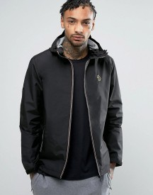 Luke 1977 Raleigh Hooded Jacket Sport Zip In Black afbeelding
