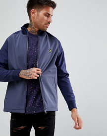 Lyle & Scott Funnel Neck Soft Shell Jacket In Navy afbeelding