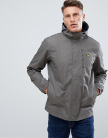 Lyle & Scott Hooded Curved Hem Jacket In Grey afbeelding