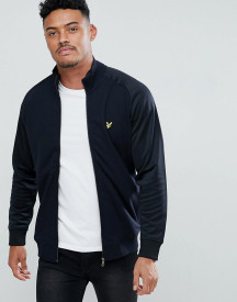 Lyle & Scott Tricot Jersey Track Jacket In Black afbeelding