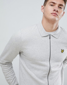Lyle & Scott Zip Thru Coach Jacket In Grey afbeelding