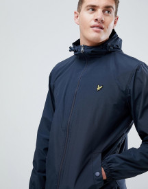 Lyle & Scott Zip Thru Showerproof Raincoat In Navy afbeelding