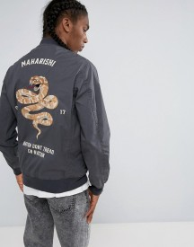 Maharishi Embroidered Snake Tour Bomber Jacket afbeelding