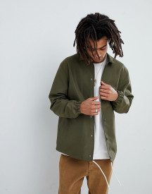 Mennace Coach Jacket In Khaki afbeelding