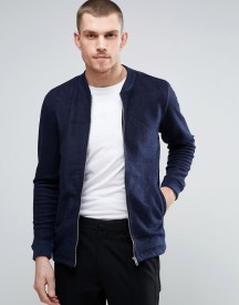 Minimum Wool Blend Formal Bomber Jacket afbeelding