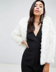 Missguided Faux Fur Hodded Coat afbeelding