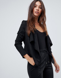 Missguided Faux Suede Waterfall Jacket afbeelding