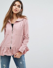 Missguided Frill Hem Jacket afbeelding
