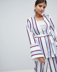 Missguided Striped Belted Blazer Jacket afbeelding