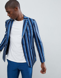 Moss London Skinny Blazer In Boat Stripe afbeelding