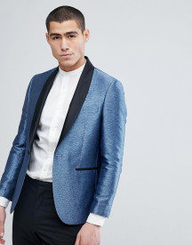 Moss London Skinny Blazer In Metallic afbeelding