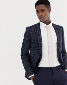 Moss London Skinny Blazer In Speckled Check afbeelding