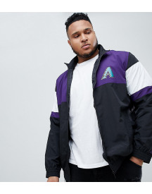 New Era Arizona Diamond Backs Track Jacket In Black afbeelding