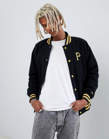 New Era Mlb Pittsburgh Pirates Varsity Jacket In Black afbeelding