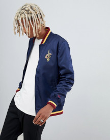 New Era Nba Cleveland Cavaliers Nylon Jacket With Rib Detail In Navy afbeelding