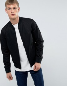 New Look Cotton Bomber In Black afbeelding